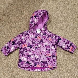 New 12-18 month winter jacket pink butterfly